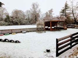 Josephs Nursery Garden in the snow