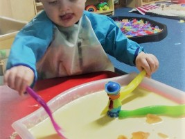 Gloop messy play